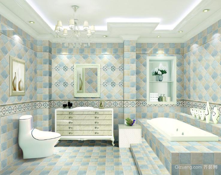 2016别墅型欧式风格浴室装修效果图实例
