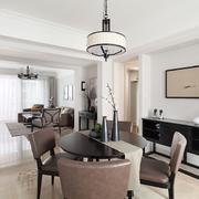 典雅精美的88平米家居餐厅装修设计图