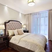 2016两居室简约美式风卧室装修设计效果图