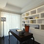 经典舒适的大户型室内书房装修效果图