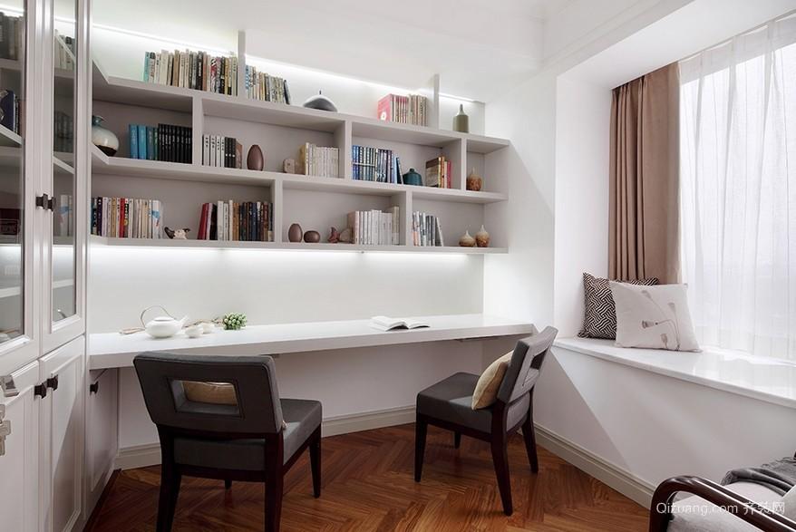 小户型现代书房简约书桌装修设计效果图
