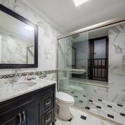 8平米精致小型卫生间瓷砖装修效果图