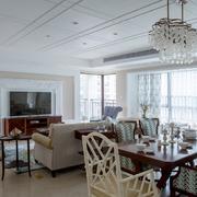 255平米大户型精美客厅吊顶装修效果图