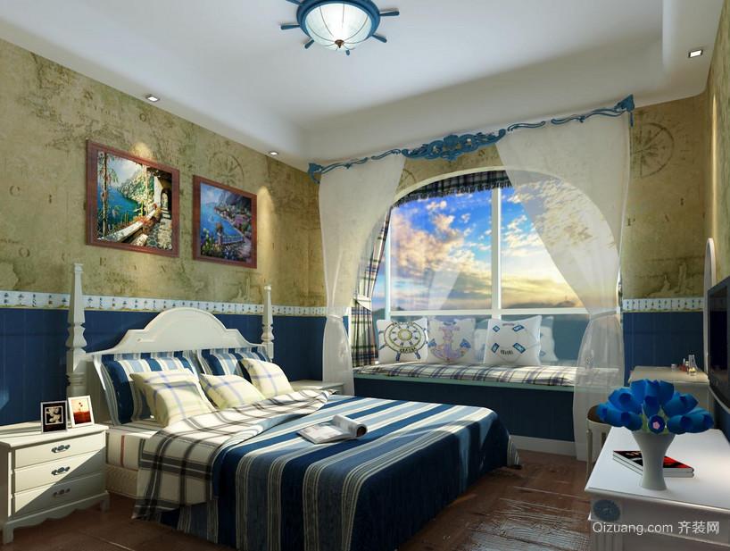 大户型地中海风格卧室装修效果图实例鉴赏