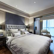 133平米家居中性冷色调卧室装修效果图
