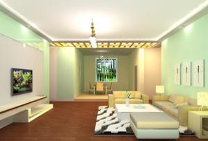 单身公寓简欧风格客厅吊顶装修效果图