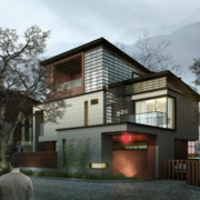 现代经典的欧式小别墅设计外观效果图