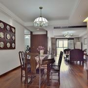 古典中式格调的家居餐厅设计装修效果图