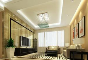 大户型现代客厅水晶吊灯装修效果图鉴赏
