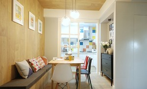 时尚朴素的小公寓餐厅装修设计效果图