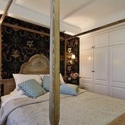 2016两室一厅古典卧室装修设计效果图