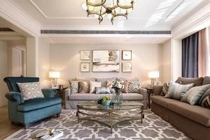 188平新古典风格客厅装修效果图欣赏