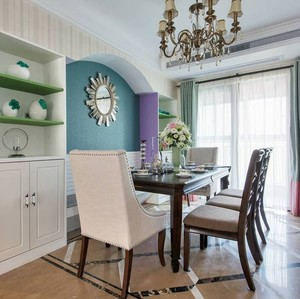 150平米三居室新古典餐厅装修设计效果图