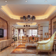 2016欧式风格客厅室内装修效果图欣赏