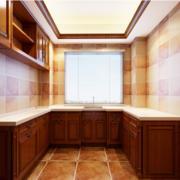 自建别墅美式风格厨房装修设计效果图