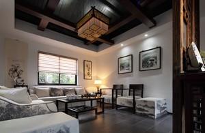 新中式风格四合院客厅装修效果图欣赏