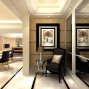 90平米欧式风格室内玄关装修效果图实例