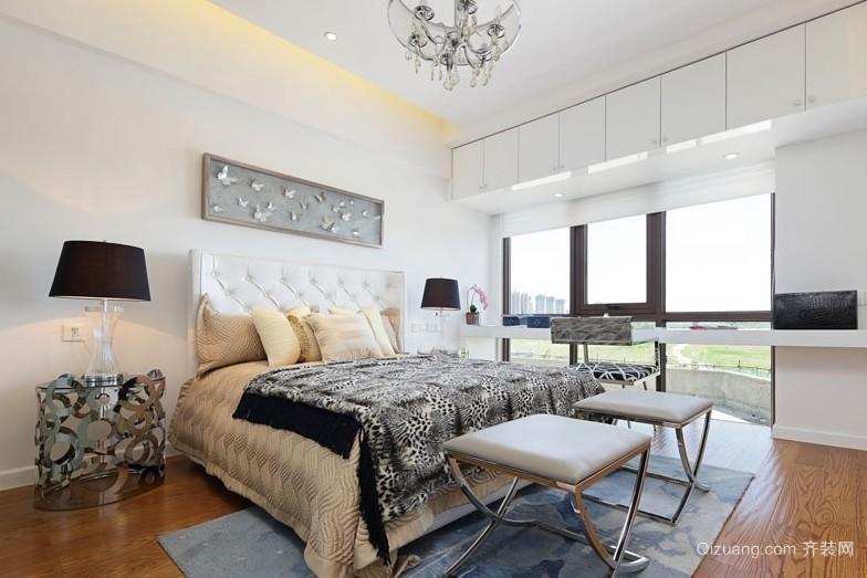 独栋别墅摩登现代卧室装修设计效果图