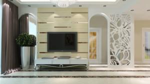 别墅型欧式电视柜背景墙装修效果图鉴赏