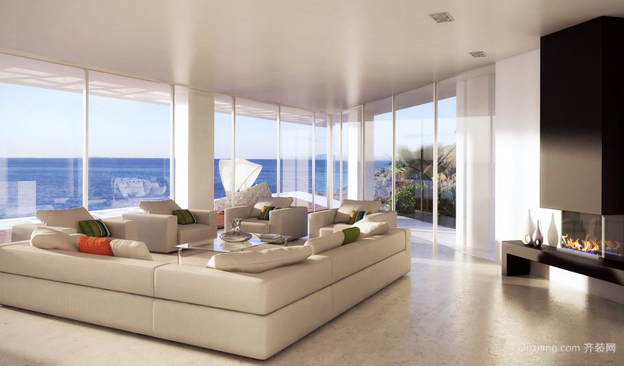 大气奢华欧式风格别墅客厅装修效果图
