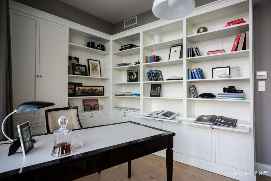 悠闲的现代别墅型书房装修效果图实例