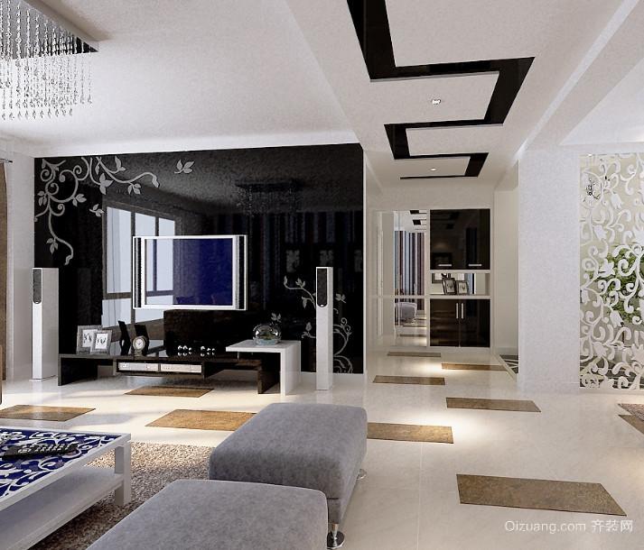 90平米典雅高贵欧式客厅装修效果图实例