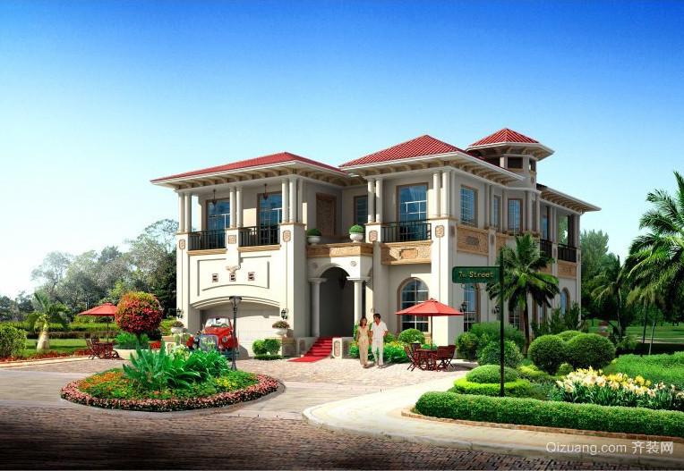 2016精致的农村别墅外观设计效果图