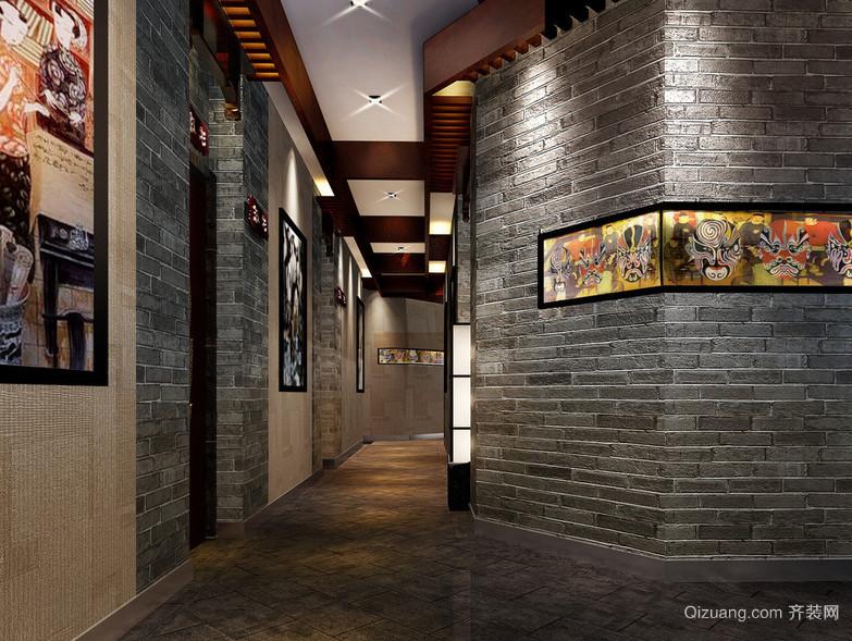大户型欧式风格室内走廊吊顶装修效果图