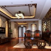 大户型唯美的现代中式客厅装修效果图