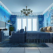 90平米地中海风格儿童房装修效果图