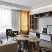朴素62平米公寓小客厅壁柜装修设计图片