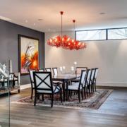 2016大户型现代简约家庭餐厅餐桌椅装修效果图