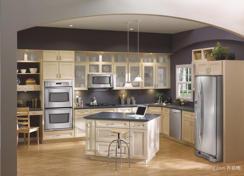2016欧式风格开放式厨房装修效果图鉴赏