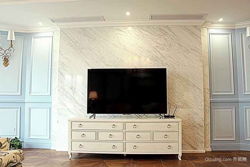 都市复式楼客厅电视背景墙效果图片