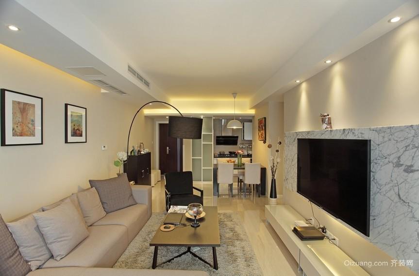 84平米朴素小家庭客厅装修设计图片
