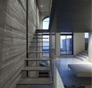 欧式风格别墅型室内楼梯装修效果图