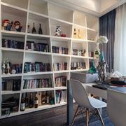 北欧风小户型书房书柜装修设计效果图
