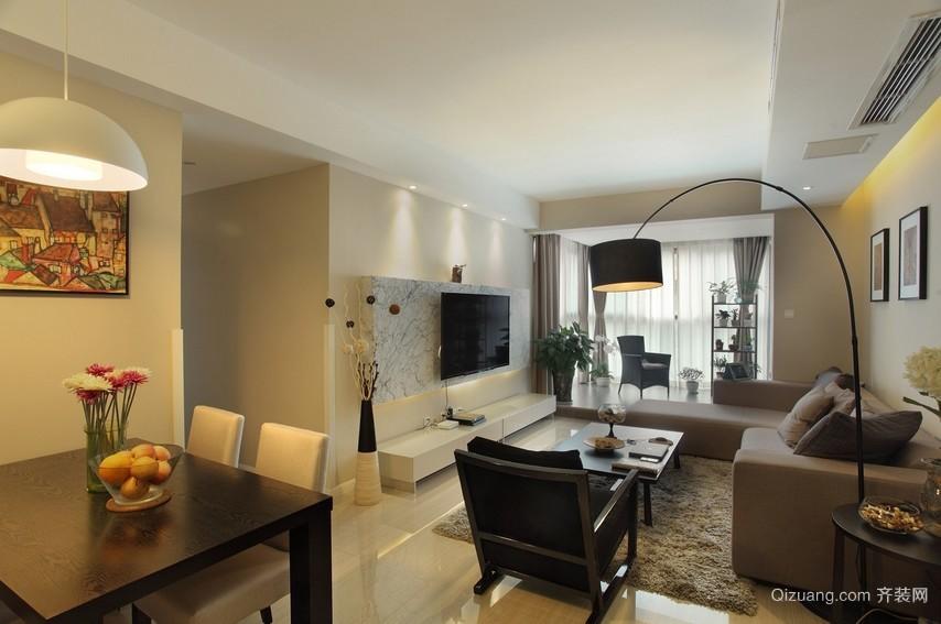 雅致简洁的客厅电视背景墙装修效果图片