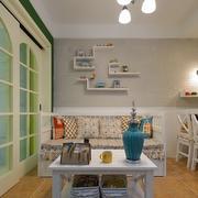 2016田园风格小公寓客厅装修设计图片