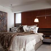 轻复古风大户型卧室装修效果图