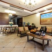 116平米家居东南亚风格客厅装修设计图片