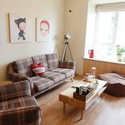 素雅原木风小公寓客厅装修设计图片