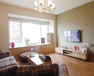 原木风61平米家居客厅装修设计图片