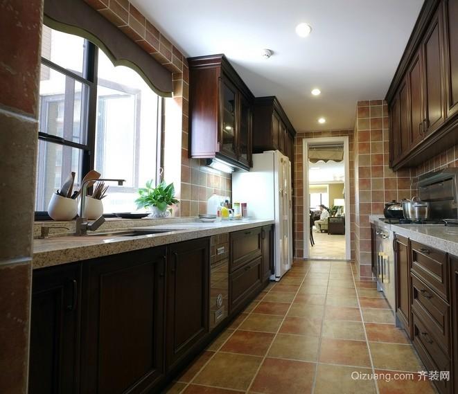 三居室美式风格厨房装修设计效果图