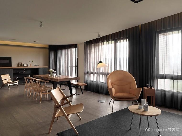 简约前卫的大户型餐厅装修设计效果图