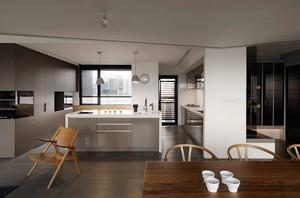 简约现代化开放式厨房装修设计效果图