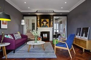 充满跳跃感的小公寓客厅装修设计图片