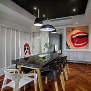 别具一格的小复式楼餐厅装修设计效果图