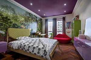 大户型彩色轻快的儿童卧室装修效果图