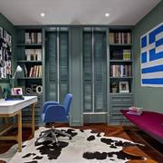 非同一般的大户型精致书房装修设计效果图